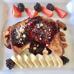 Lemon Curd and Goat Cheese Stuffed French Toast with Blueberry Sauce
