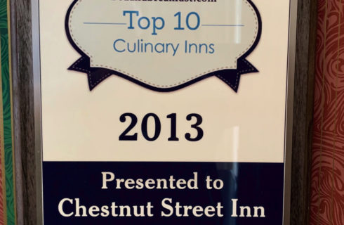 BedandBreakfast.com Top 10 Culinary Inns Award: Chestnut Street Inn